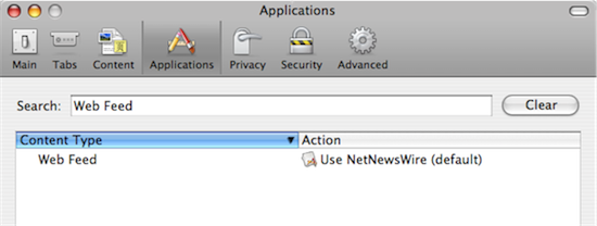 Firefox Application Preferences